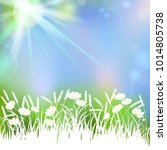 vector spring background with... | Shutterstock .eps vector #1014805738