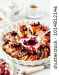 braided babka brioche wreath... | Shutterstock . vector #1014812146