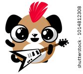 illustration of funny puppy dog ...   Shutterstock .eps vector #1014812308