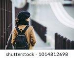 asian female traveler in japan | Shutterstock . vector #1014812698