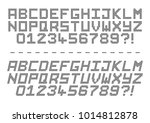 a dot code alphabet in capitals ... | Shutterstock .eps vector #1014812878