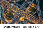 top view over the highway ... | Shutterstock . vector #1014815170