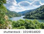 the danube river flowing... | Shutterstock . vector #1014816820
