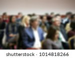 attendees at business... | Shutterstock . vector #1014818266
