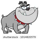 angry bulldog dog cartoon... | Shutterstock .eps vector #1014820570