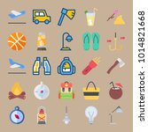 icons beach and camping with...   Shutterstock .eps vector #1014821668