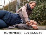 woman measures the blood...   Shutterstock . vector #1014823369