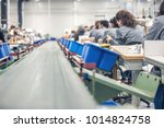 machinery and conveyor belts... | Shutterstock . vector #1014824758