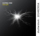 half transparent lightning bolt ... | Shutterstock .eps vector #1014825016