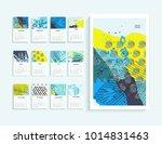 calendar 2018. abstract modern...   Shutterstock . vector #1014831463