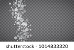 isolated snowflakes on...   Shutterstock .eps vector #1014833320