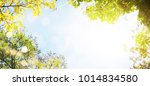 spring background with green... | Shutterstock . vector #1014834580