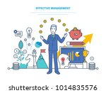 effective management ... | Shutterstock .eps vector #1014835576
