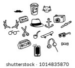 doodle hipster objects | Shutterstock .eps vector #1014835870