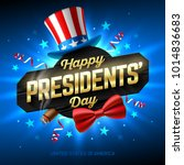 happy presidents' day greeting... | Shutterstock .eps vector #1014836683