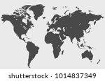 political world map | Shutterstock .eps vector #1014837349