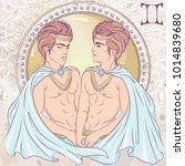 zodiac. vector illustration of... | Shutterstock .eps vector #1014839680