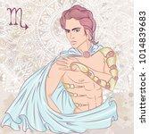 zodiac. vector illustration of... | Shutterstock .eps vector #1014839683