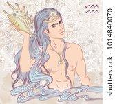 zodiac. vector illustration of... | Shutterstock .eps vector #1014840070