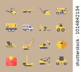 icons construction machinery... | Shutterstock .eps vector #1014842134