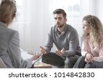 spouses with problems talking... | Shutterstock . vector #1014842830