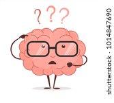 brain cartoon with questions... | Shutterstock .eps vector #1014847690