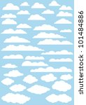 vector clouds collection.... | Shutterstock .eps vector #101484886