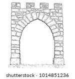 cartoon vector doodle drawing... | Shutterstock .eps vector #1014851236