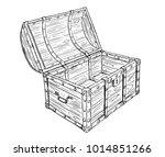 cartoon vector doodle drawing... | Shutterstock .eps vector #1014851266