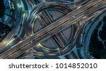 aerial view bangkok expressway  ... | Shutterstock . vector #1014852010