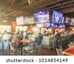 blurred open space sport bar... | Shutterstock . vector #1014854149