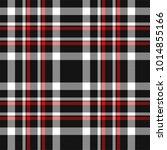 red  black and white tartan....   Shutterstock .eps vector #1014855166