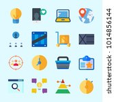 icons about business with... | Shutterstock .eps vector #1014856144