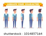 young man for animation. front  ... | Shutterstock .eps vector #1014857164