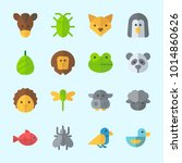 icons about animals with panda  ... | Shutterstock .eps vector #1014860626