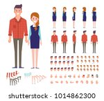 front  side  back  3 4 view... | Shutterstock .eps vector #1014862300