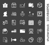 set of building  money check ... | Shutterstock .eps vector #1014868906