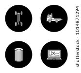 auto workshop glyph icons set.... | Shutterstock .eps vector #1014871294