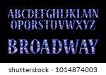 realistic vector lamps alphabet ... | Shutterstock .eps vector #1014874003