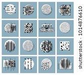 abstract vector backgrounds set ... | Shutterstock .eps vector #1014876610