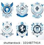 set of vector vintage emblems...   Shutterstock .eps vector #1014877414
