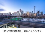 panoramic cityscape in beijing | Shutterstock . vector #1014877759