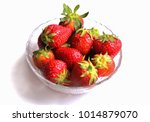 fresh strawberry in the bowl... | Shutterstock . vector #1014879070