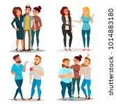 friends characters set.... | Shutterstock . vector #1014883180