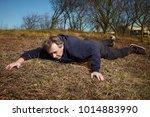 older man fell while running in ...   Shutterstock . vector #1014883990