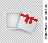open gift box with a red bow... | Shutterstock .eps vector #1014885688