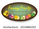 fruit poster of vector fruits...   Shutterstock .eps vector #1014886333