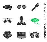 ophtalmology glyph icons set.... | Shutterstock .eps vector #1014890410