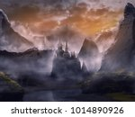 Castle In Fantasy Landscape...