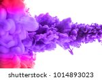 ink in water isolated on white... | Shutterstock . vector #1014893023